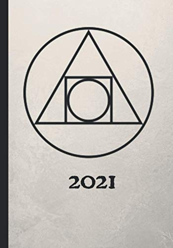 2021: Gothic Alchemy Planner Agenda, Holidays, Two Pages per Month, Includes Space for Contacts, Passwords, and Notes, Vintage Alchemical Symbol ... Fire, Water, Earth, Gold, Mercury, and More