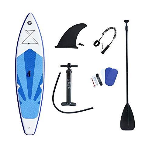 Duan Tabla de Surf Hinchable Mistral, Azul Tabla de Sup de Agua de Fitness, Tabla de Paddle Surf de Surf de Yoga para Turistas