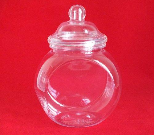 Retro Pot de conservation en plastique 650 ml avec couvercle Style victorien à 10 bocaux