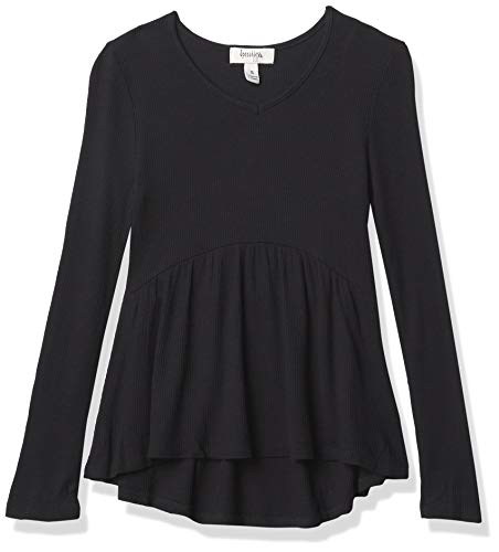 Speechless Camiseta térmica de Manga Larga para niña, Color Negro, XL