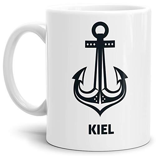 Tassendruck Anker-Tasse Kiel Seemann/Hafenstadt/Küste/Souvenir/Kaffeetasse/Mug/Cup
