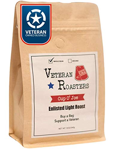 Veteran Roasters Whole Bean Coffee Light Roast. We're Veteran Coffee Roasters on a Mission to Help Veterans. Perfect Breakfast Blend Coffee.