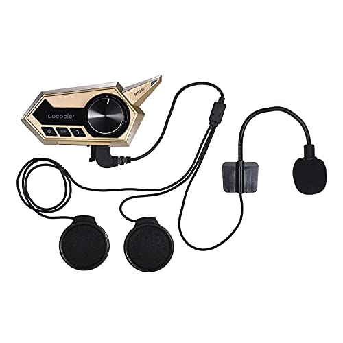 Docooler Auriculares para Casco de Motocicleta Inalámbrica BT5.0 Reducción de Ruido con Microfono Soporte Cable USB Respuesta Automática