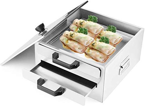 BWJL Machine à Plateau à Vapeur de Riz Rouleau en Acier Inoxydable, Double Couche Cuisine Cuisson, Vaisselle pour la Cuisine Bricolage Nourriture Commerciale ou d'utilisation à Domicile