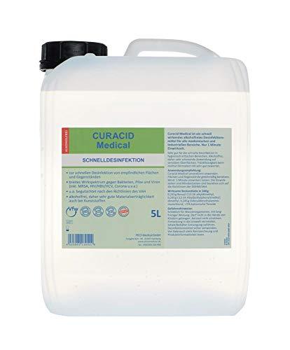 Curacid Medical, 5L, Schnelldesinfektion, alkoholfrei, für Flächen und Gegenstände, nur 1 Min. Einwirkzeit
