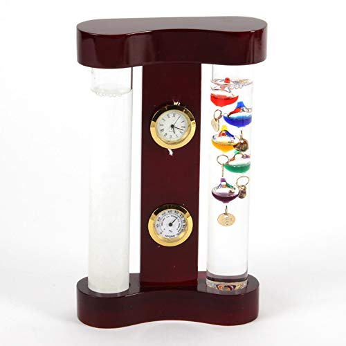 Monitor de Tiempo Termómetro de Galileo & Storm cristal 18cm
