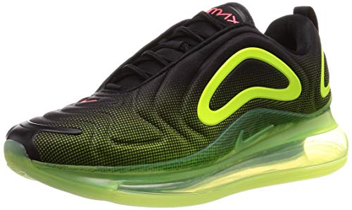Nike Air Max 720 Mens Running Trainers AO2924 Sneakers Shoes (UK 10 US 11 EU 45, Black Bright Crimson Volt 008)
