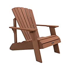 Classic comfortable design; Constructed of weather-resistant simulated wood UV-protected will not crack, chip or peel Some assembly required. Please watch assembly video Stain resistant and easy to clean. Seat Length - 38.6 inch.(98 cm). Seat Back He...