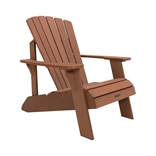 Lifetime Faux Wood Adirondack Chair, Brown - 6