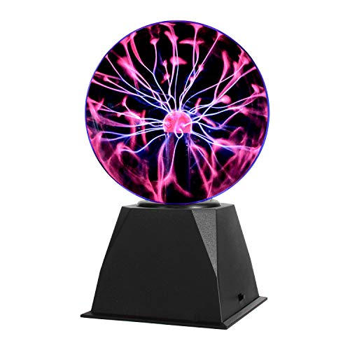 Gresus 6 Inch Magic Plasma Ball Lamp - Touch & Sound Sensitive Interactive Plasma Lamp Nebula Sphere Globe, Science Educational Gift for Decorations/Parties/Bedroom