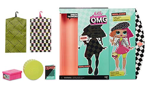 MGA- Poupée-Mannequin L.O.L O.M.G. Neonlicious avec 20 Surprises Toy, 560579, Multicolore