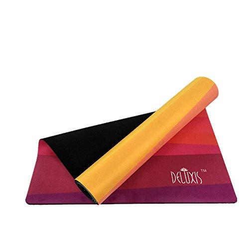 JOMSK Equipo de Entrenamiento Estera de Yoga Rubber0.35mm Respetuoso con el Medio Ambiente Delicious Fitness Mat Estera de Yoga para la Familia.