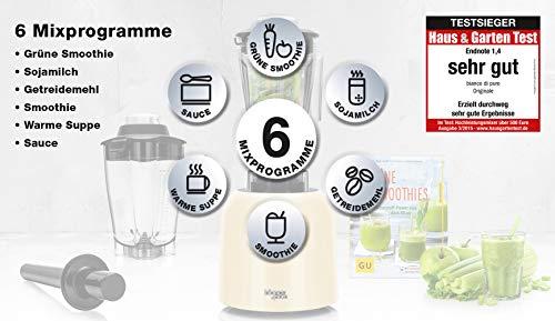 bianco-di-puro-Originale-inkl-Flower-Behaelter-plus-Smoothie-Rezeptbuch-Hochleistungsmotor-3000-32000-UMin-Smoothie-Maker-6-Mixprogramme-2-Liter-Mixbehaelter-BPA-frei