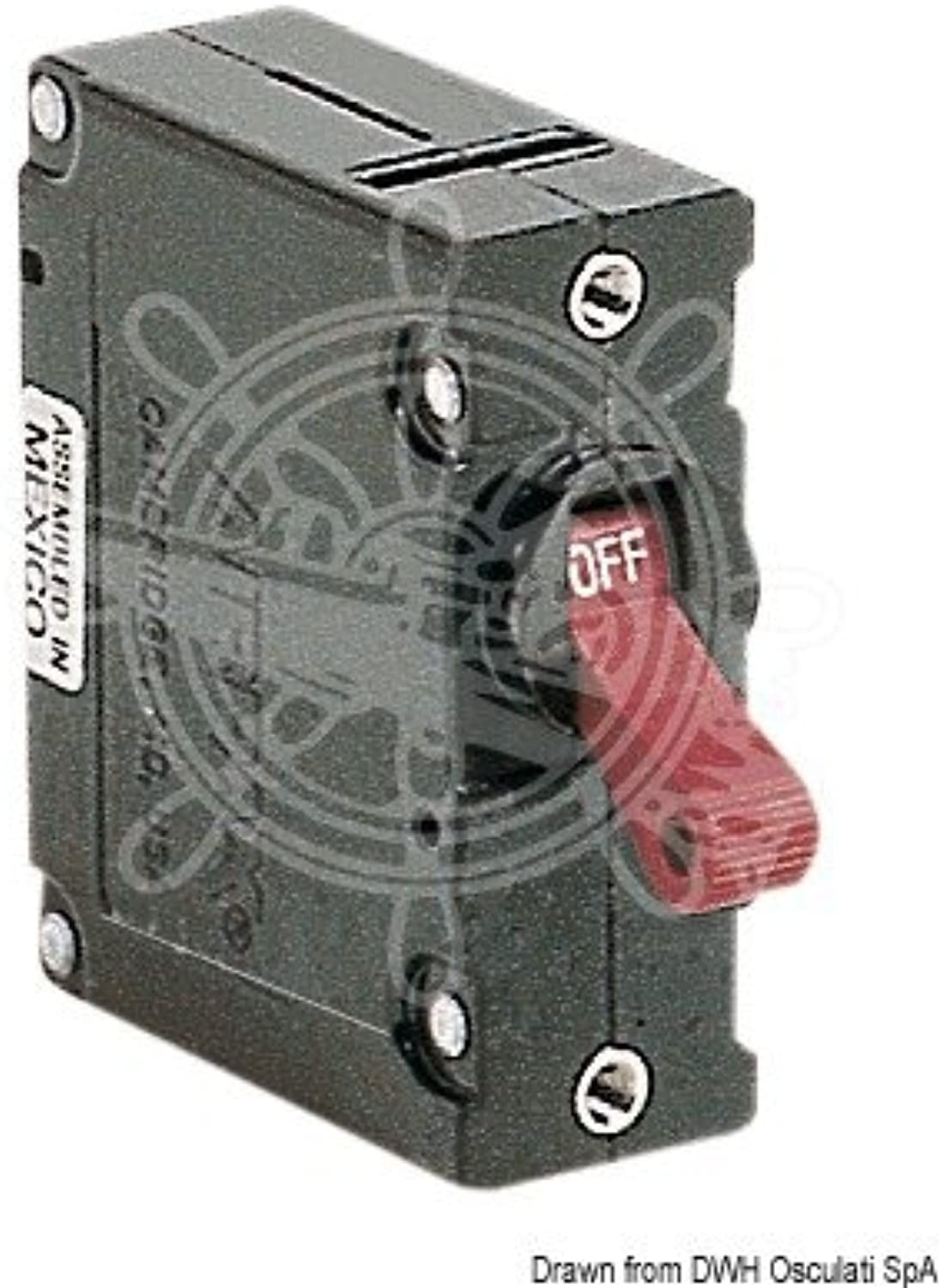 AIRPAX Magneto Hydraulic Tumbler Switch with Overhanging Lever 15A
