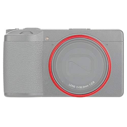 Tapa de anillo de metal para cámara digital Ricoh GR III GRIII GR3, reemplaza la tapa original de Ricoh GN-1, protector de lente para decoración de lente de cámara, color rojo