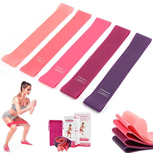 Resistance Bands for Legs and Glutes, Exercise Resistance Loop Bands for...
