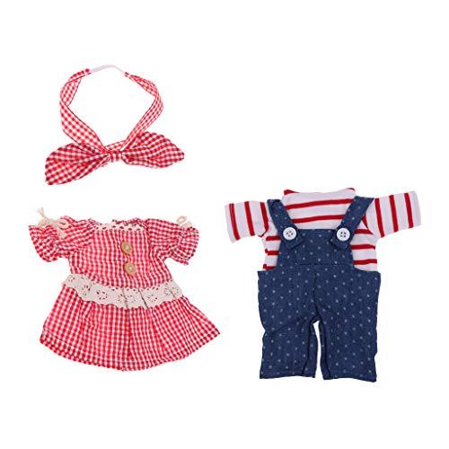 HomeDecTime 2 Juegos de Ropa de Muñeca para 25 Accesorios de Vestir de Muñecas de Niña Mellchan