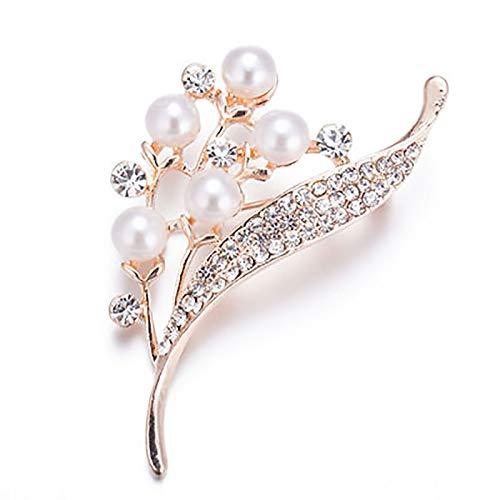 Accesorio para equipos de vestir Broche - Broche de las señoras de la perla de imitación floral, camisa, bufanda, abrigo, broche de cardigan, broche exquisito for cualquier ocasión Exquisita mano de o