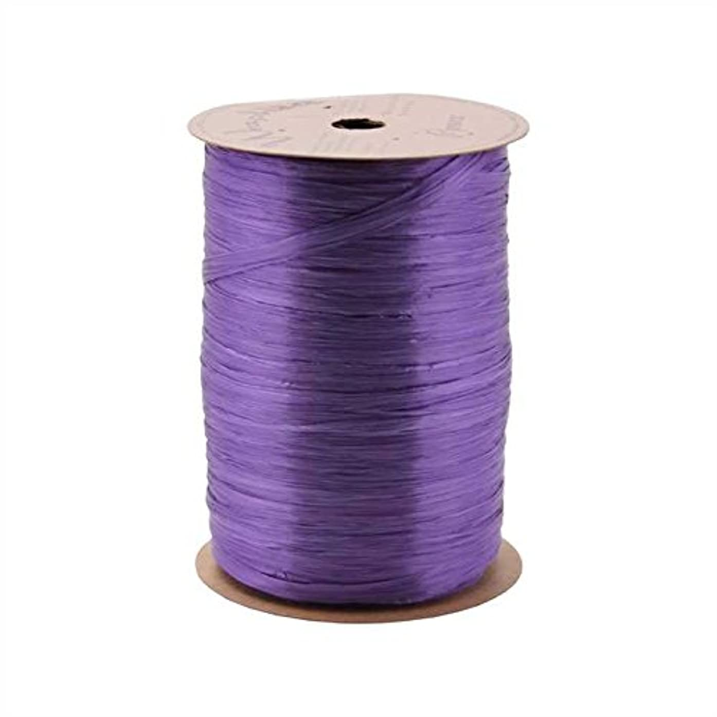 Berwick Offray Violet Purple Pearlized Raffia Ribbon, 1/4'' Wide, 100 Yards