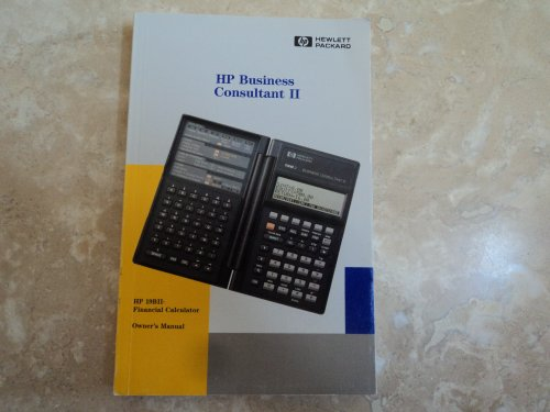 HP Business Consultant II HP 19BII Financial Calculator Owner's Manual