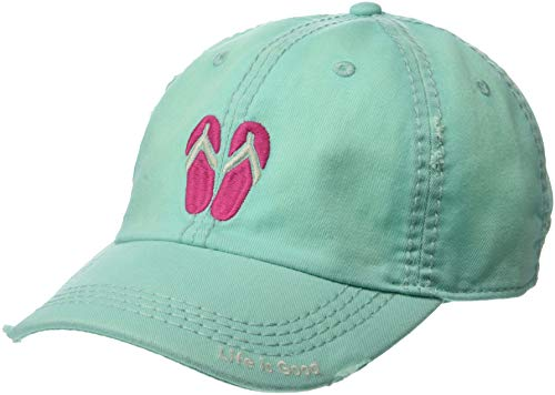 Life is Good Sunwashed Chill Cap Baseball Hat Collection,Cool Aqua