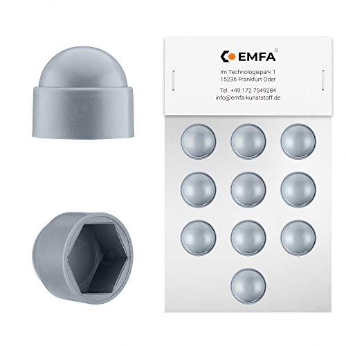 Schutzkappen für Schrauben M8 (für Schlüssel 13) Grau | 25 Stück | Schraubenkappen Stopfen Rohrkappen