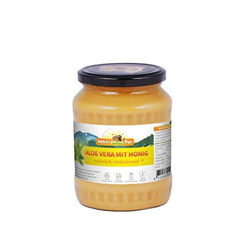 Aloe Vera-Honig von ImkerPur®, 1000g, reich an Vitaminen, revitalisierend, die perfekte Pflege von Innen