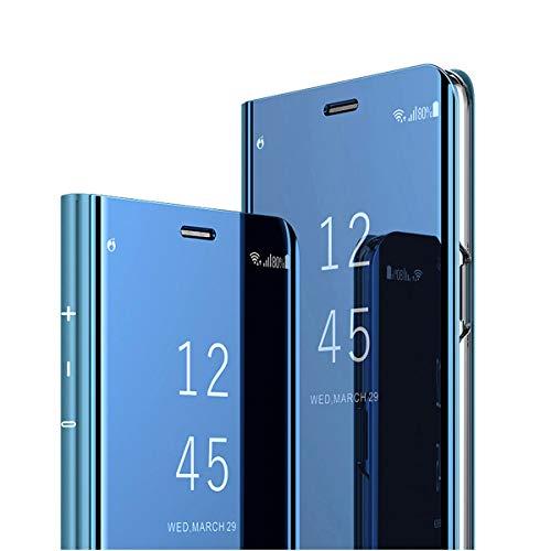 Clear View Standing Cover für das Samsung Galaxy S6, kompatibel mit Galaxy S6, Spiegel Handyhülle Schutzhülle Flip Cover Schutz Tasche mit Standfunktion 360 Grad hülle für Galaxy S6 (1)