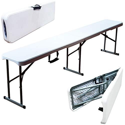 MQ Houseware Klappbare Sitzbank für Garten, Picknick, Party, Camping, Esstisch, 2 Stück