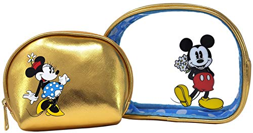 Loungefly Disney Cosmetic Travel Bags - 2 Piece Set Mickey & Minnie Mouse Print