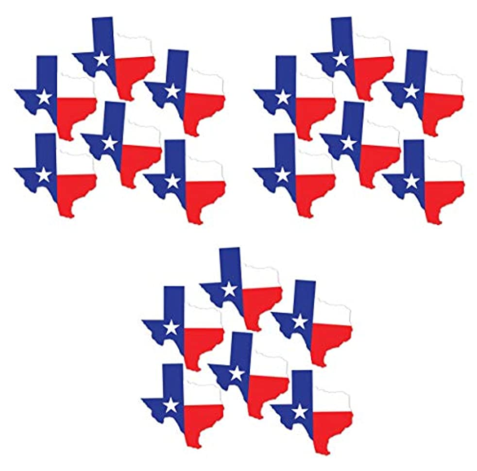 Beistle S19493 Texas Mini Cutouts 18 Piece, 5.25