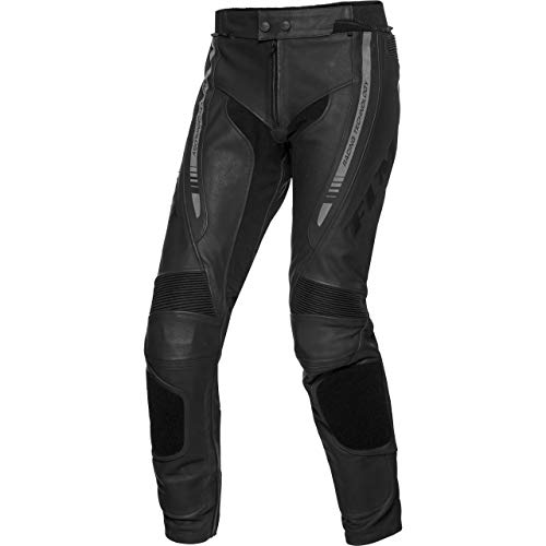 FLM Kombihose Lederkombi Motorradhose mit Protektoren Sports Leder Kombihose 4.0 schwarz 60, Herren, Sportler, Ganzjährig