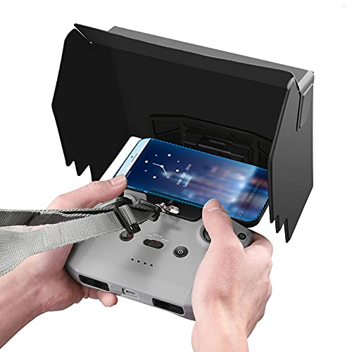 Skyreat Mavic Air 2 / Mini 2/Air 2S Parasole per telefono da 4,7-6,7 pollici con accessori per cordino compatibile con telecomando DJI Air 2S/Mini 2 / Mavic Air 2 Drone