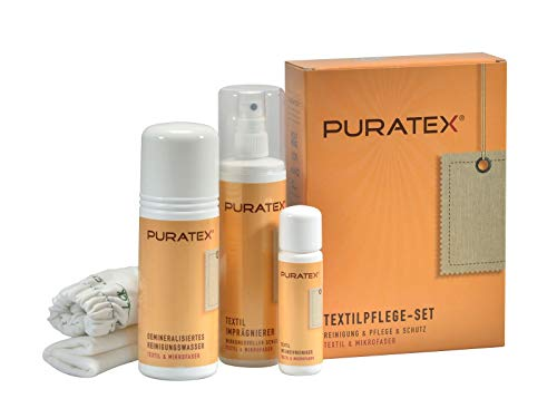 LCK PURATEX Textil-Pflegeset. Für alle Stoffe auf Möbeln außer Seide. Reinigung Pflege Imprägnierung