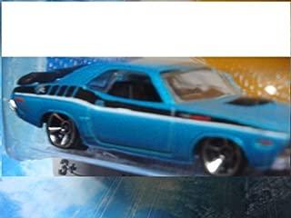 Hot Wheels Detailed Diecast '71 Dodge Challenger Aqua - '08 Dodge Challenger Metallic Silver Scale 1/64