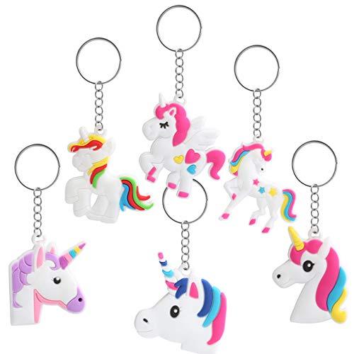 Kesote 12 llaveros en Forma de Unicornio Llavero Color Unicornio de 6 Modelos Buen Regalo para...