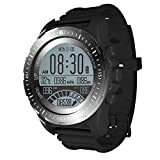 Men's Sports Watches for Men Hiking Watches with Compass, GPS, Heart Rate Monitor, Pedometer, Barometer, Backlight, Black