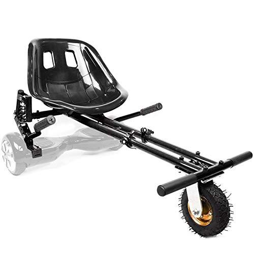 """YAHAO Accesorio para Asiento Hoverboard, Kart Hoverboard, Compatible con Scooters Autoequilibrados De 6.5""""/ 8"""" / 10"""", para Niños Y Adultos,Black"""