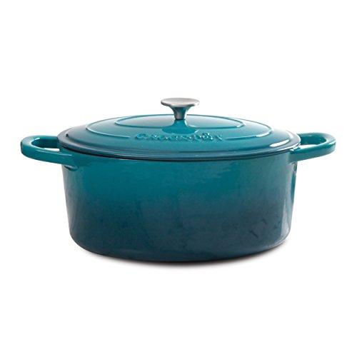 Crock-Pot 109475.02 Dutch Oven, 7-Quart, Teal Ombre