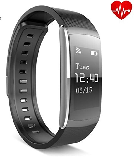 Best to Buy Outdoor sport Room PRO Smart Wristband Heart Rate Monitor IP67 Waterproof Smart Bracelet Fitness Tracker support Andriod IOS cell phone (Blue)