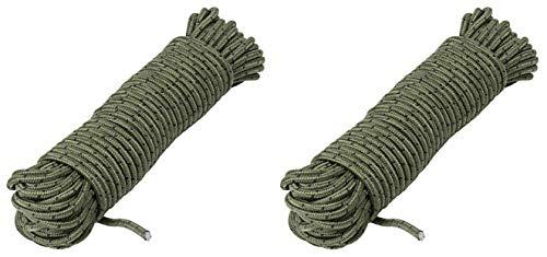 AceCamp Corde en polypropylène polypropylène pour l'extérieur Corde Polyvalente Couleur Olive 5 mm x 10 m 20 m 30 m, Doppelpack, 20 m