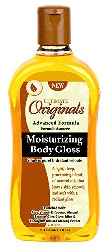 Ultimate Originals Moist Body Gloss 12 Ounce (354ml) (3 Pack)