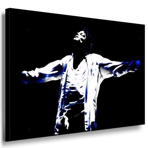 fotoleinwand24 Michael Jackson Bild 100x70cm k. Poster ! Bild fertig auf Keilrahmen ! Pop Art Gemälde Kunstdrucke, Wandbilder l Bilder zur Dekoration Deko. Musik Stars Kunstdrucke
