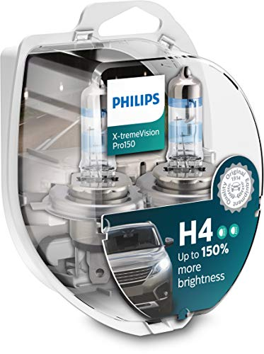 Philips H4 X-tremeVision Pro150 60/55 Watt 12 Volt P43t-38 12342XVPS2 (2 Stück)