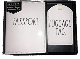 Rae Dunn Passport Holder and Luggage Tag Boxed Gift Set (Passtport Luggage)
