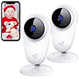 Victure 2 Pack 1080P WiFiSecurityBabyCamera Indoor Pet Monitor Home IP CCTV camera with Night Vision 2-Way Audio Motion Detection for Home/Office/Baby/Nanny/Pet