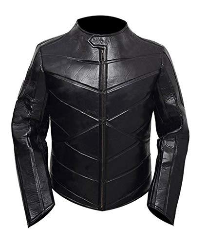 Fashion_First Chaqueta para motociclista de cuero negro para hombre, para Hobbs & Shaw Idris Elba