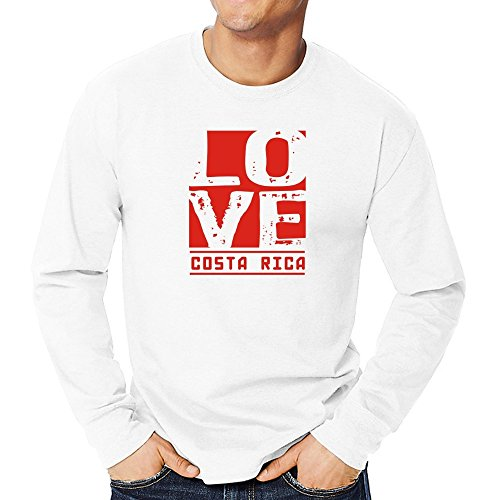 Teeburon Love Costa Rica Camiseta Manga Larga