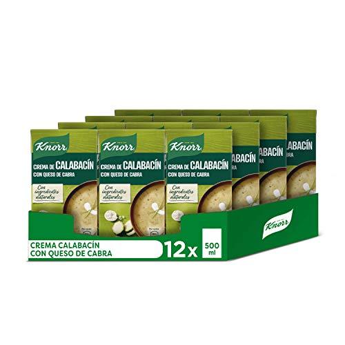 Knorr Las Clásicas Crema de Calabacín con Queso de Cabra - Paquete de 12 x 500 ml - Total: 6000 ml