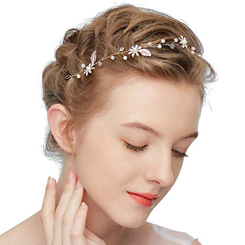 Oumezon bruidshoofdbanden hoofdbanden strass bloemen diadeem bruiloft haarspelden bruidssieraden kristal haaraccessoires haarkam